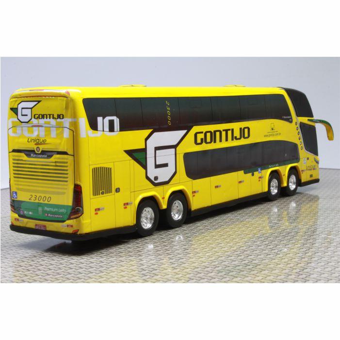 Ônibus Miniatura Viação Gontijo Premium Leito DD 4 eixos