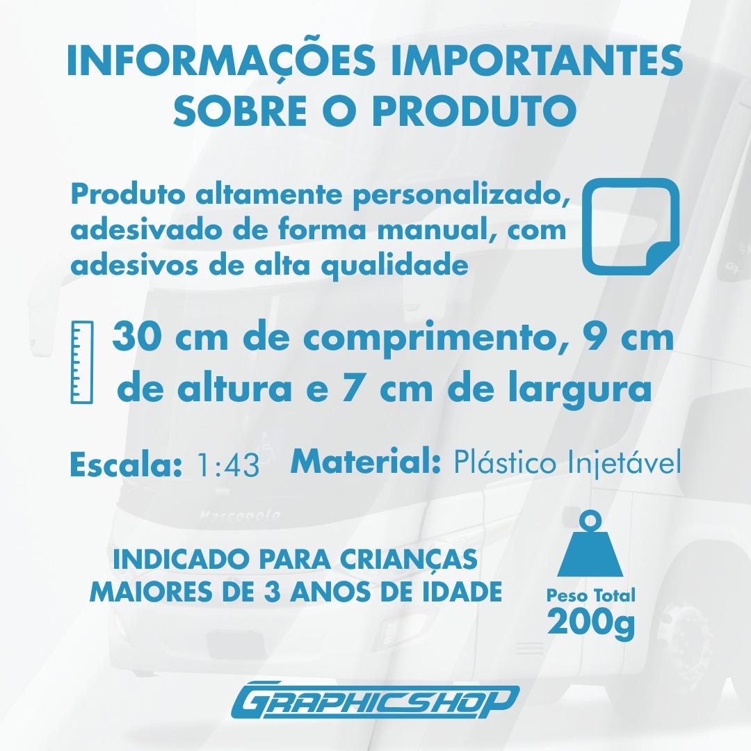 Ônibus Miniatura Viação União Santa Cruz Super Fofo DD