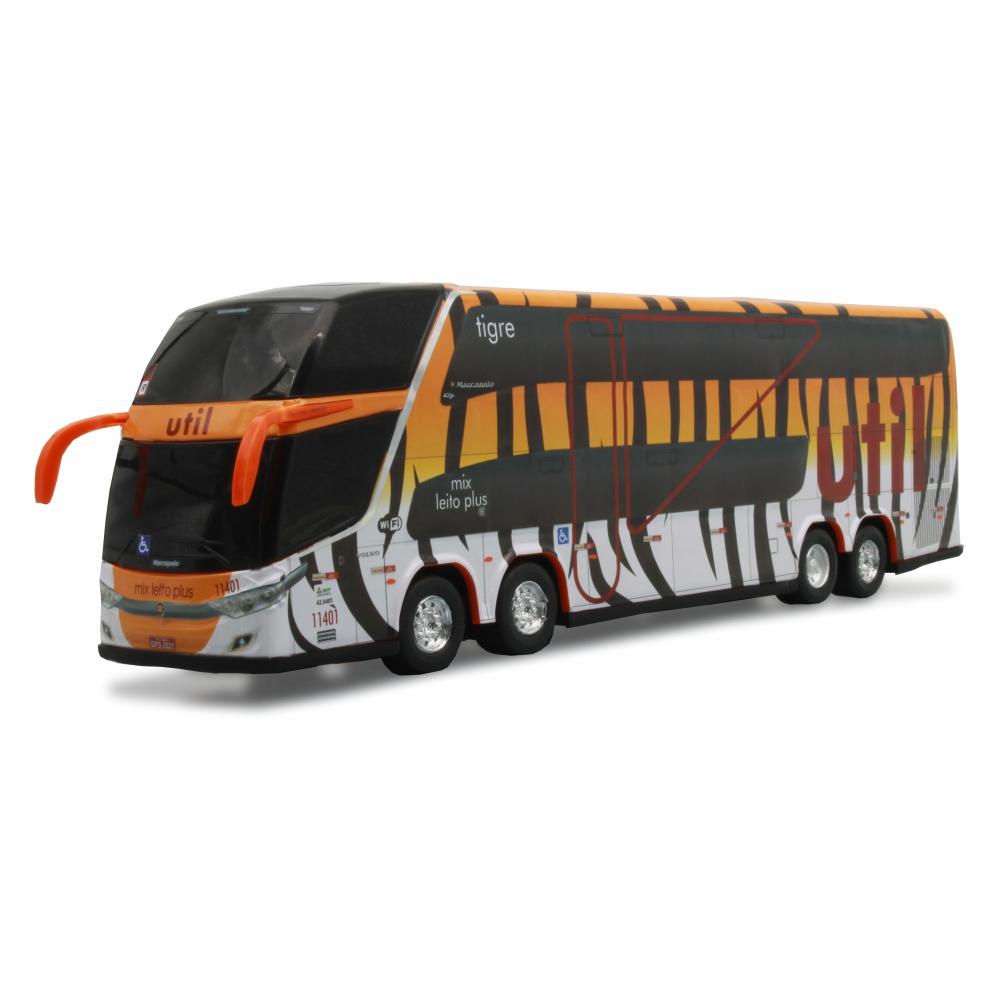 Ônibus Miniatura Viação Util Tigre DD G7