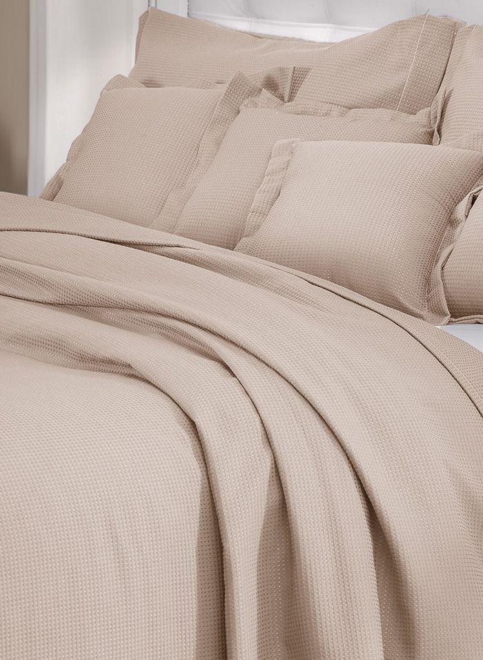Colcha cobre leito de solteiro castor lisa com porta travesseiros