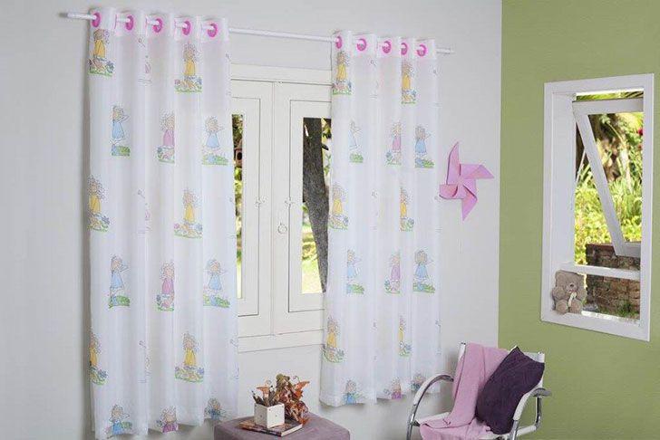 CORTINA DUALTEX VOIL INFANTIL MENINA 280x180 CM PARA QUARTO