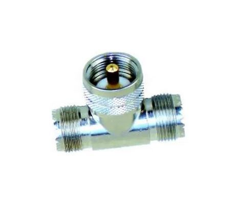Adaptador Conector UHF 2 Fêmeas e 1 Macho Steelbras - AP0028
