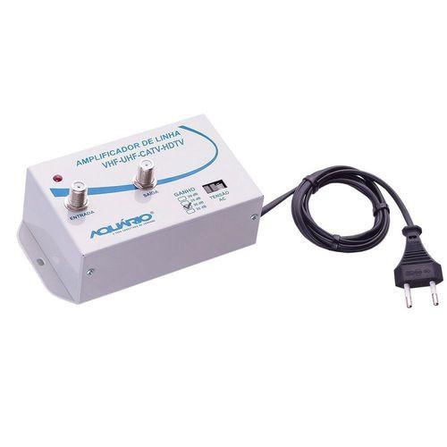 Amplificador de Linha de TV 30dB de Ganho AL-30 - Aquário