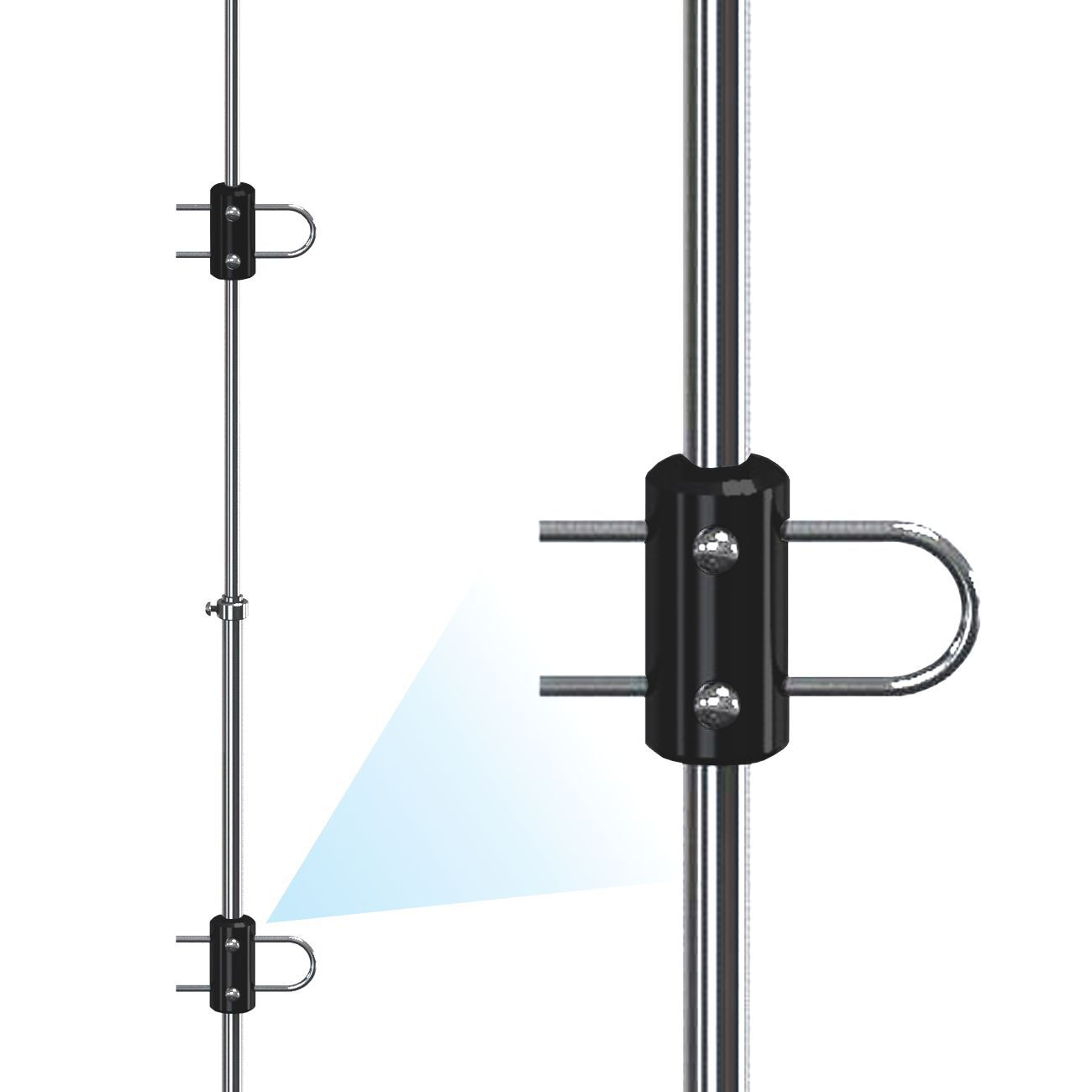 Antena Base UHF 3x 5/8 de Onda 9 dB Steelbras - AP8249