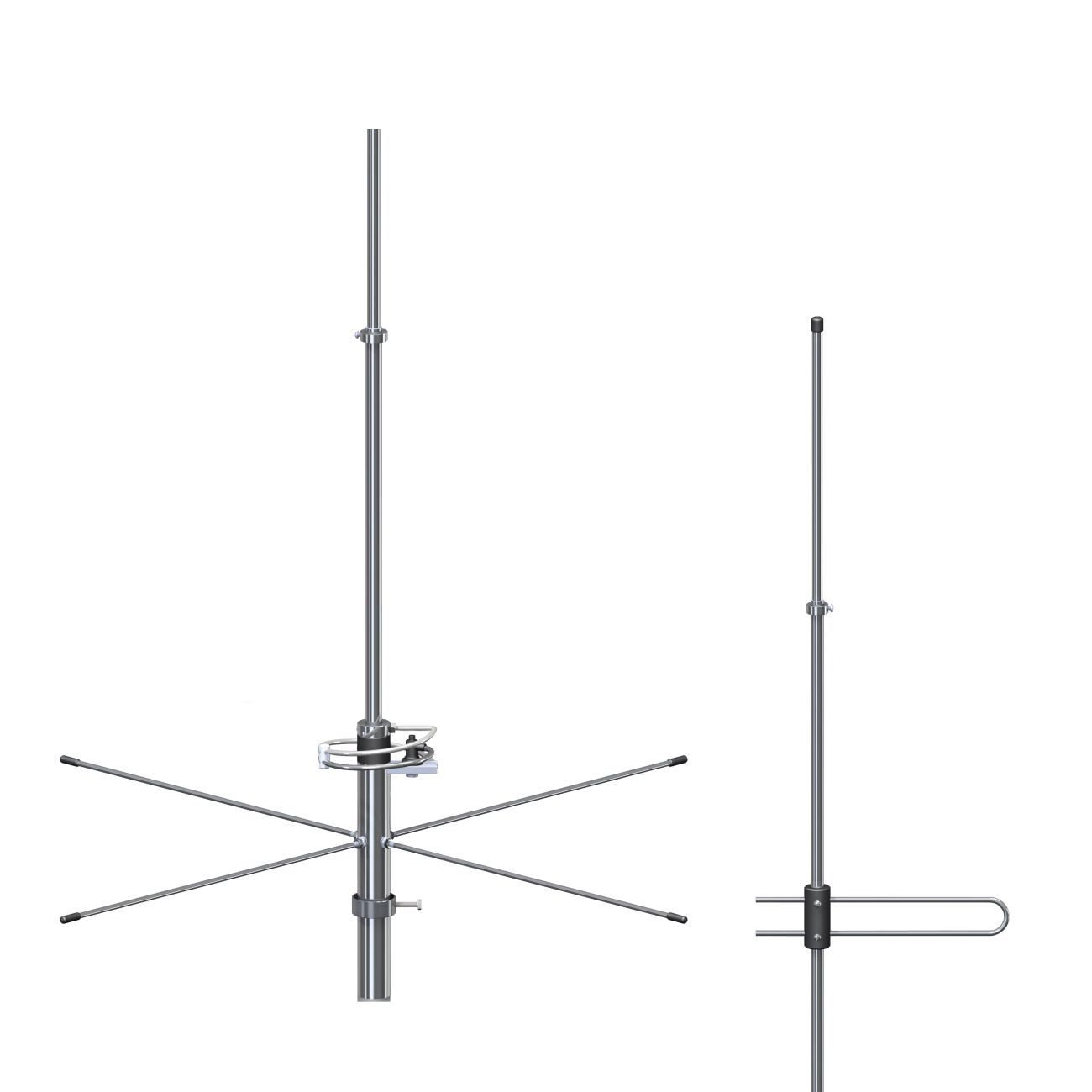 Antena Base VHF Plano Terra FM 2X 5/8 De Onda Steelbras - AP2449
