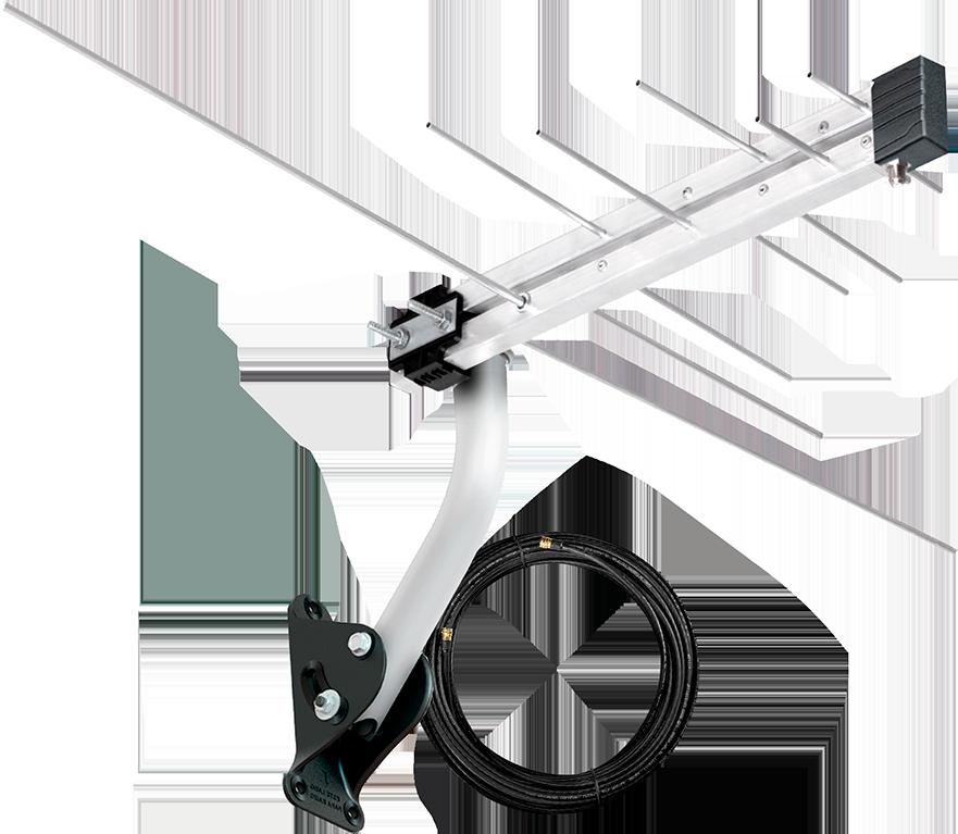 Antena Log Externa 4 em 1 LVU-6 - Aquario