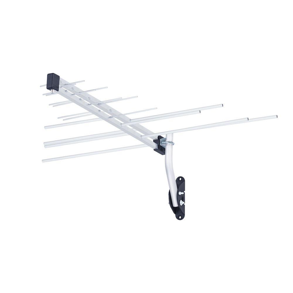 Antena log externa para TV 4 em 1 VHF/UHF/FM e HDTV LVU-11PLUS - Aquario