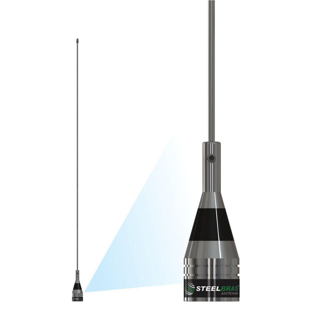 Antena Movel VHF 1/4 de Onda Steelbras - AP0186