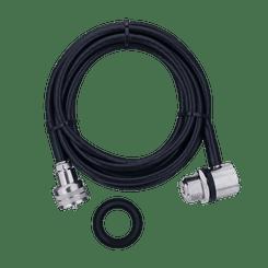 Cabo RG58 3,5m Conector UHF Macho M-801K - Aquario