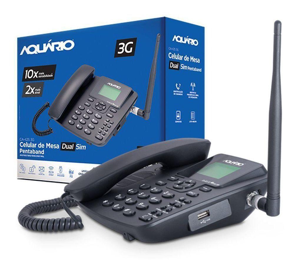Celular de Mesa 3G CA-42S 3G - Aquario