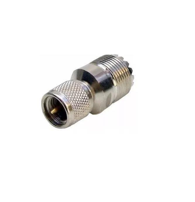 Conector Adaptador Mini-UHF para UHF Fêmea
