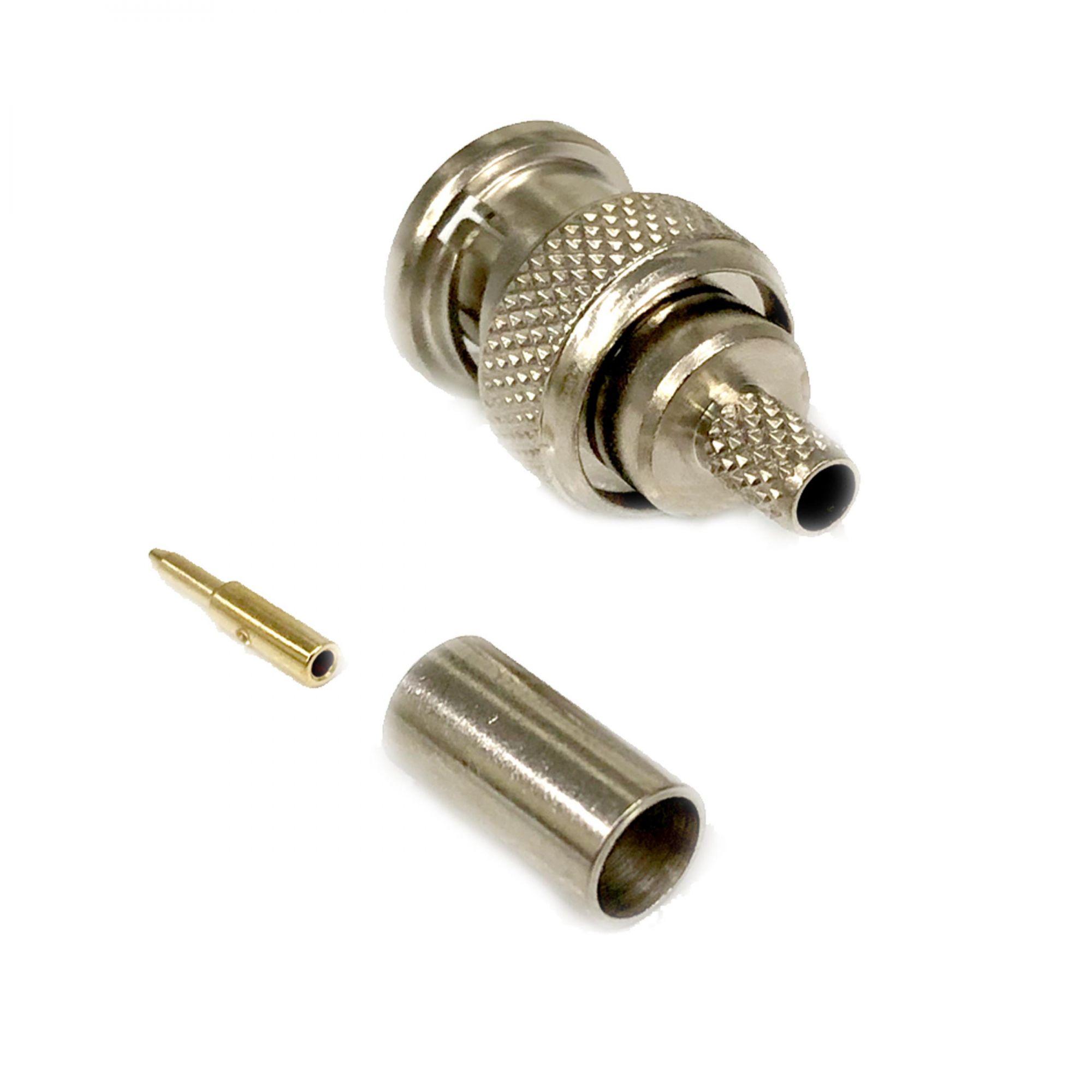 Conector BNC Macho Crimp RG58 Steelbras - AP0024