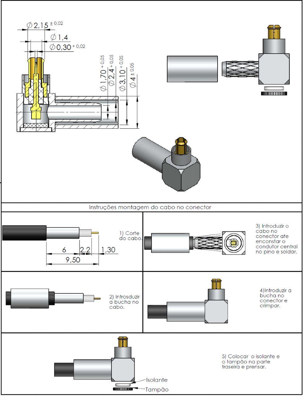 Conector Mc-Card Macho Rg-174 12000