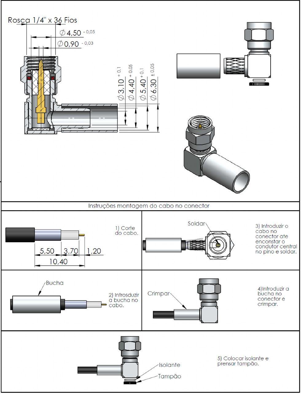 Conector SMA Macho Rg/Rgc-58 3018