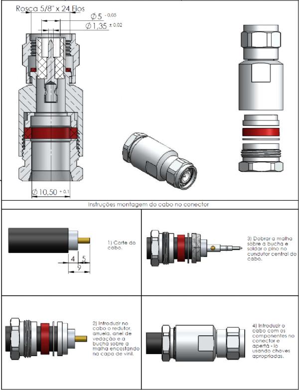 Conector Tnc Macho Lmr-400/Rgc-213 TM-81