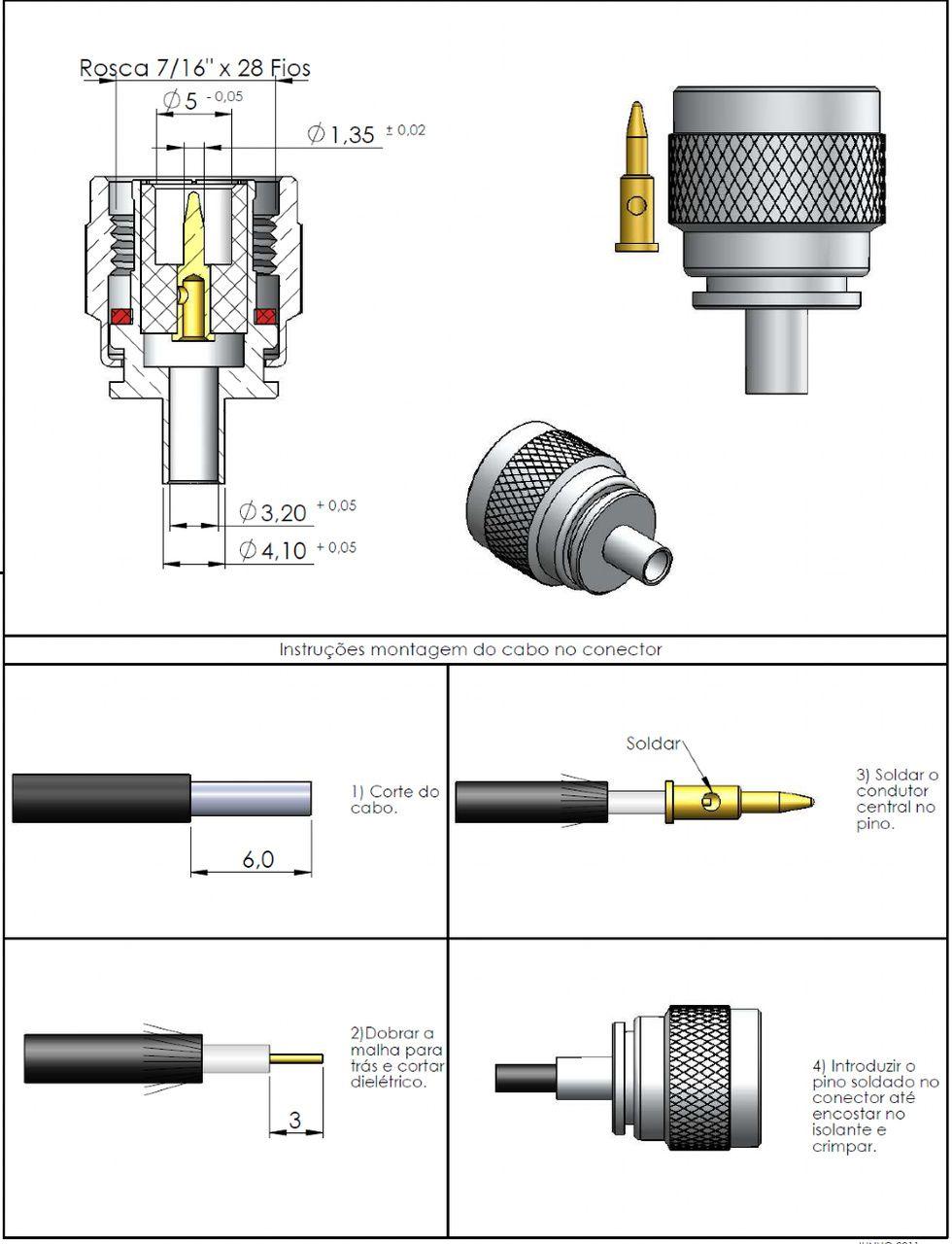 Conector TNC Macho Rg-174 TM-63