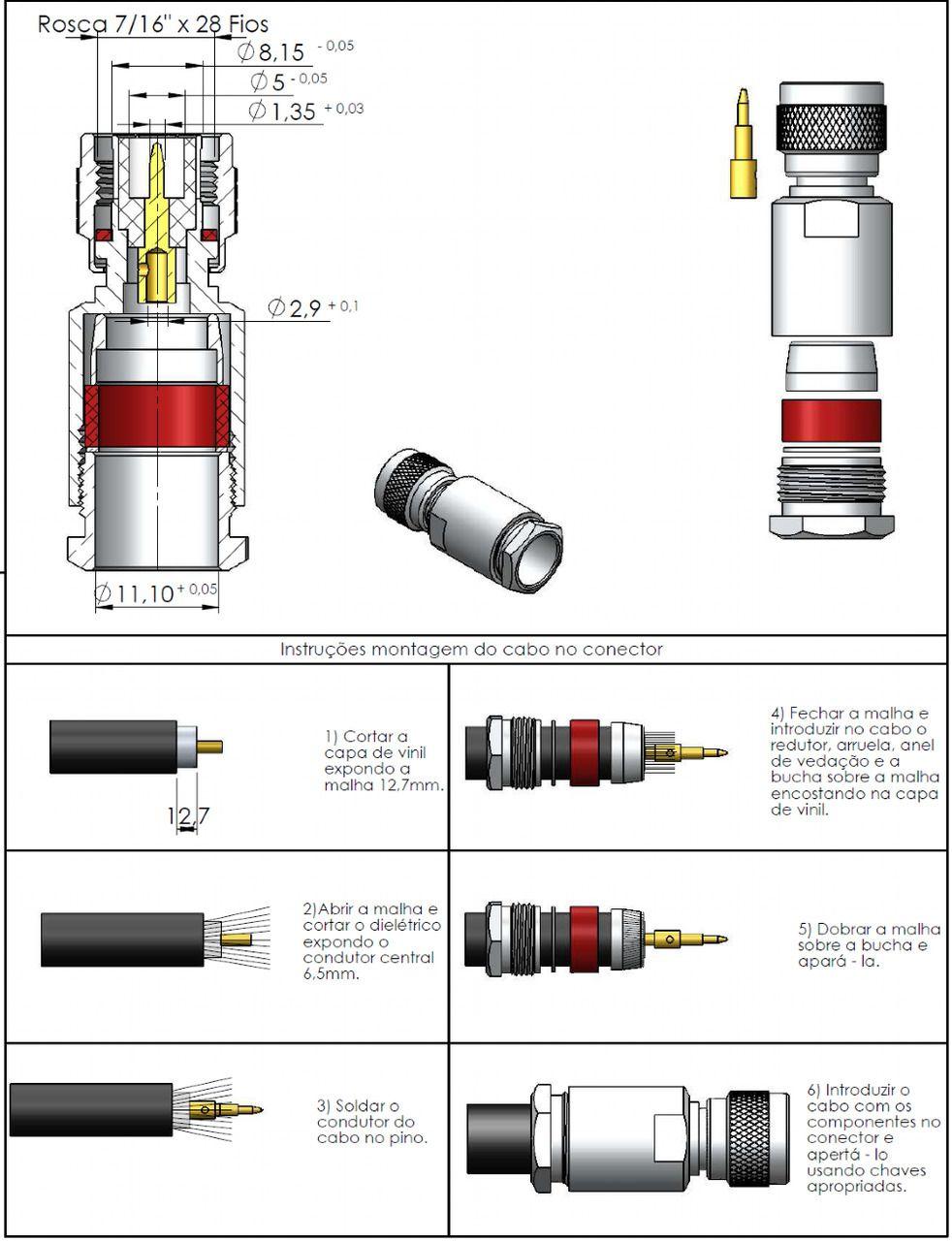 Conector TNC Macho Rg/Rgc-213 TM-10