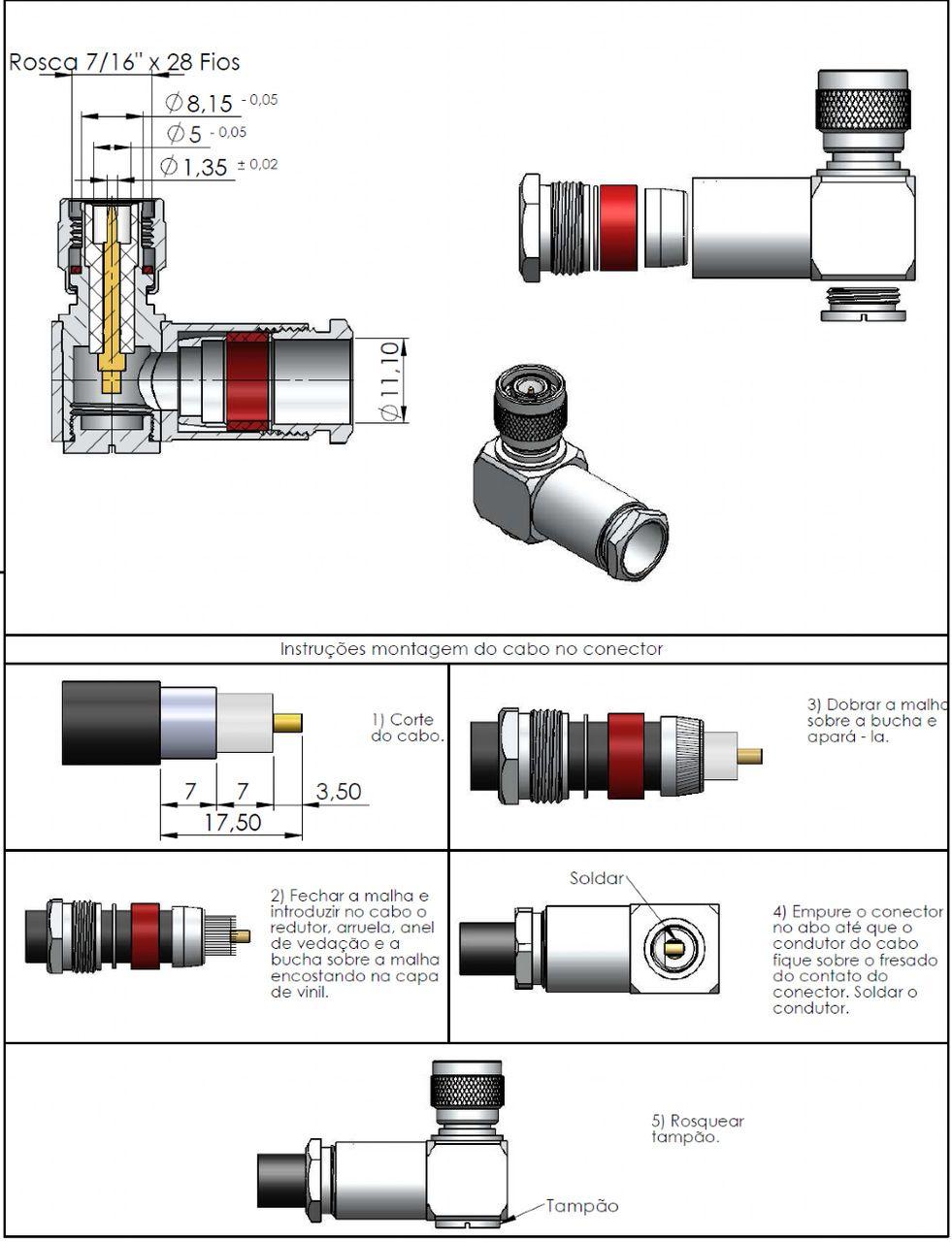 Conector Tnc Macho Rg/Rgc-213 Tm-34