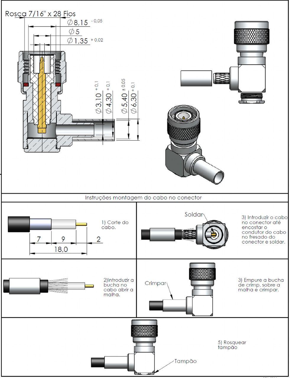 Conector TNC Macho Rg/Rgc-58 TM-72