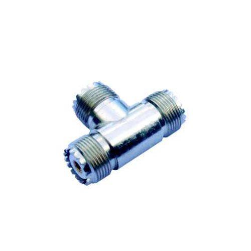 CONECTOR UHF 3 FÊMEAS - AP0027