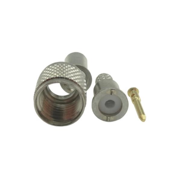 Conector UHF-Mini Macho Reto Crimpagem Rg/Rgc-58 KM-2M (Mini Motorola)