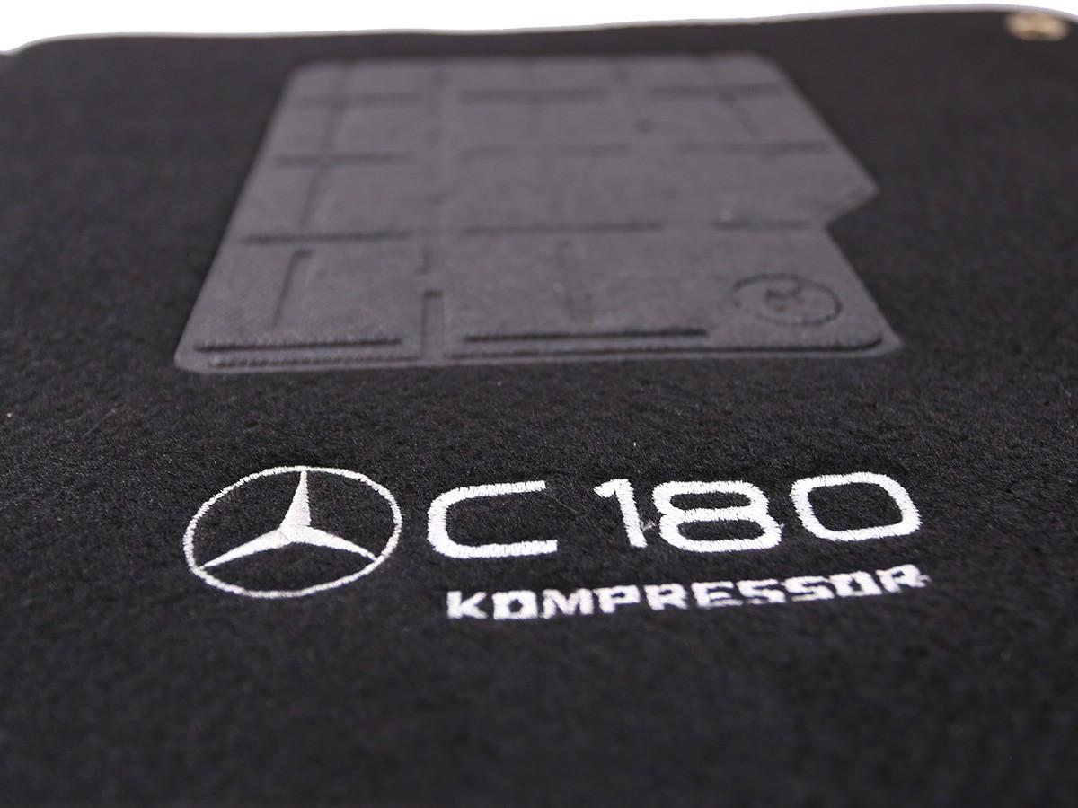 Jogo De Tapete Mercedes C180 Preto 4 Pecas