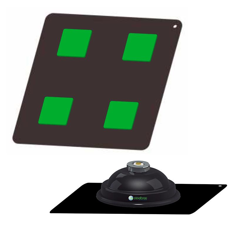 Kit Antena para Emlid Reach rs+ Lora RTK com Plano Terra + Suporte Magnético