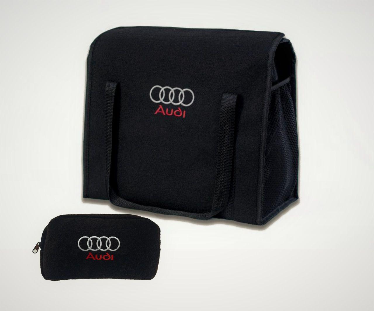 Kit Bolsa Organizadora Porta Malas e Necessaire Porta Luvas Audi