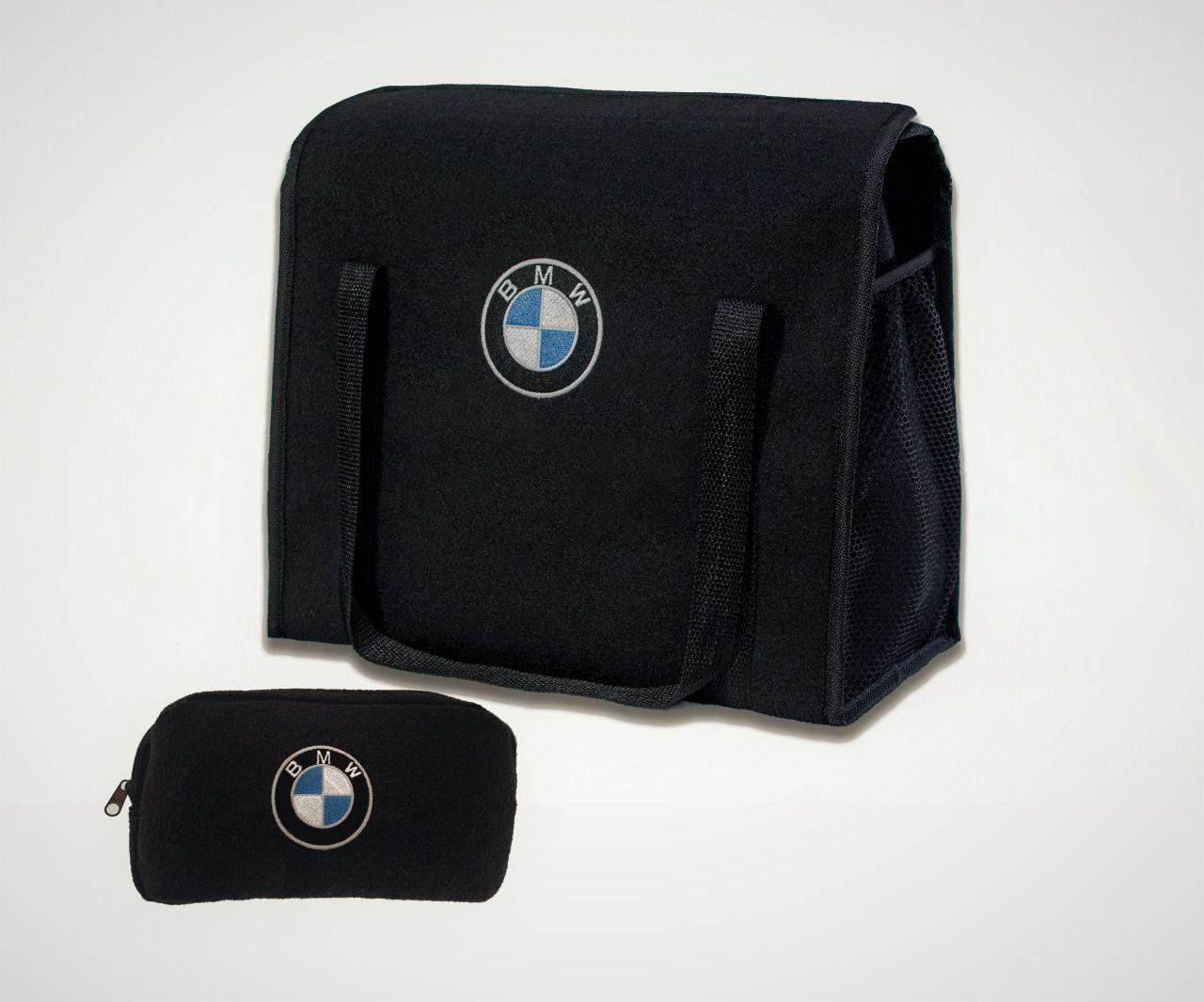 Kit Bolsa Organizadora Porta Malas e Necessaire Porta Luvas BMW