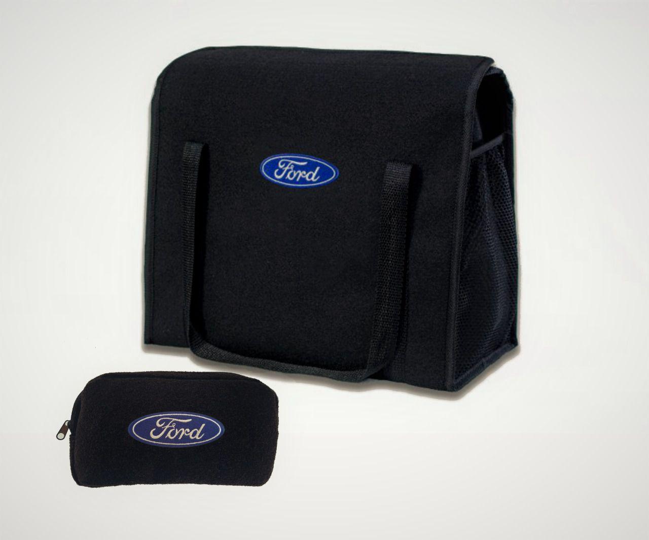Kit Bolsa Organizadora Porta Malas e Necessaire Porta Luvas Ford