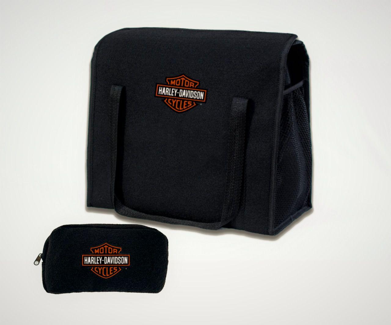 Kit Bolsa Organizadora Porta Malas e Necessaire Porta Luvas Harley-Davidson