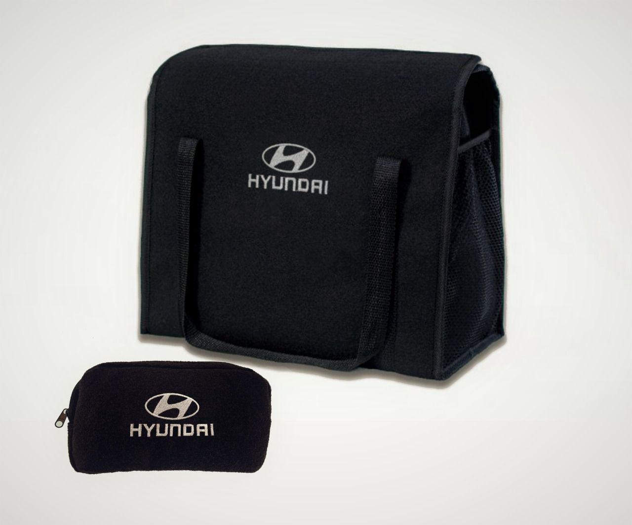 Kit Bolsa Organizadora Porta Malas e Necessaire Porta Luvas Hyundai