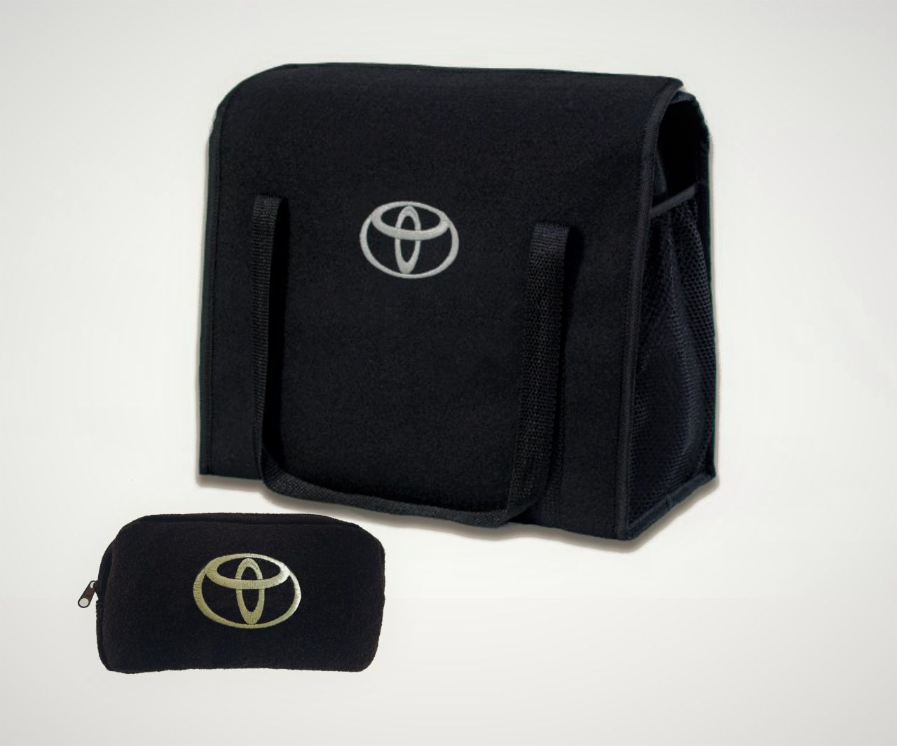 Kit Bolsa Organizadora Porta Malas e Necessaire Porta Luvas Toyota