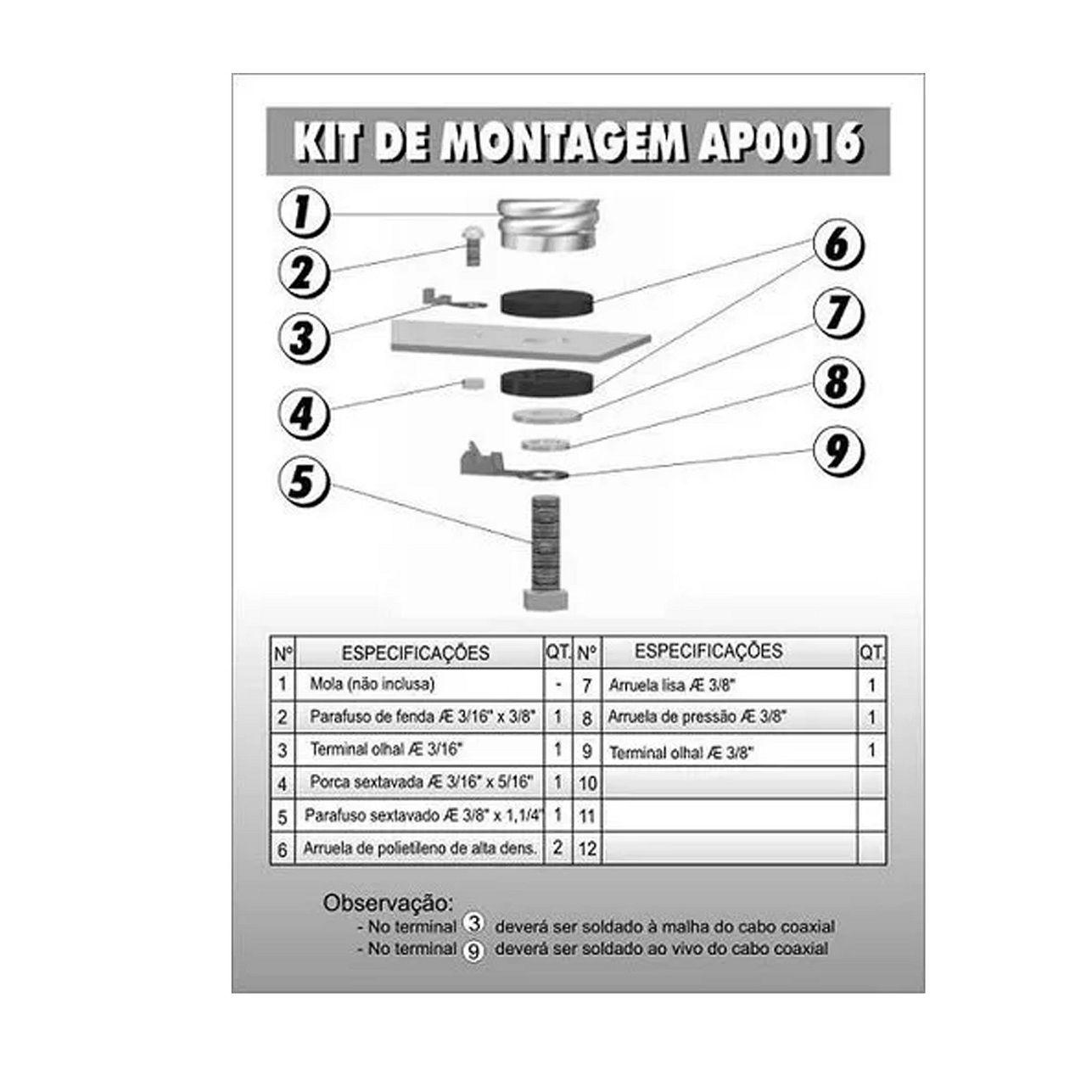 Kit De Parafusos Para Maria Mole Steelbras - AP0016