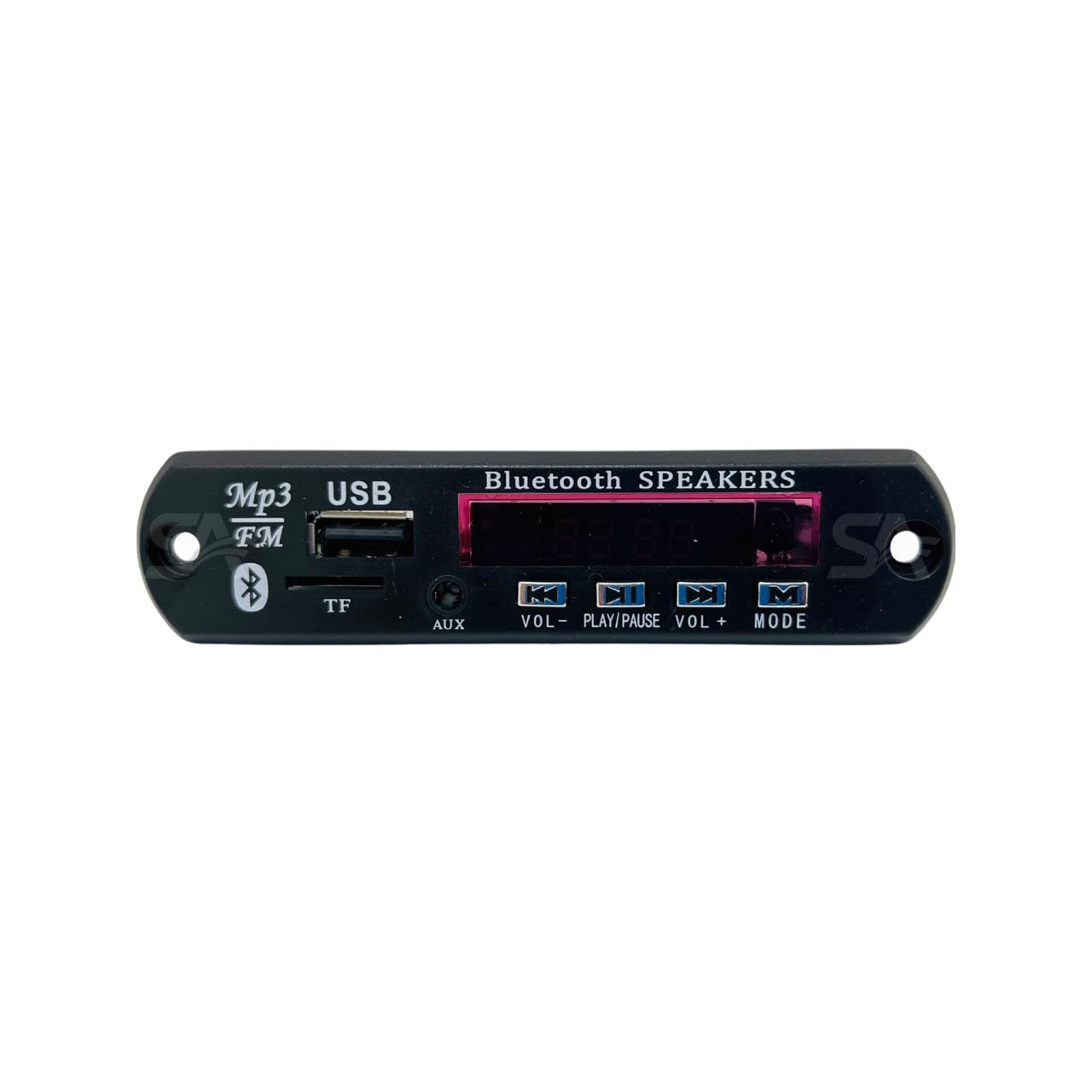 Placa Mp3 Bluetooth P/ Caixa Ativa Pendrive P2 Sd Fm