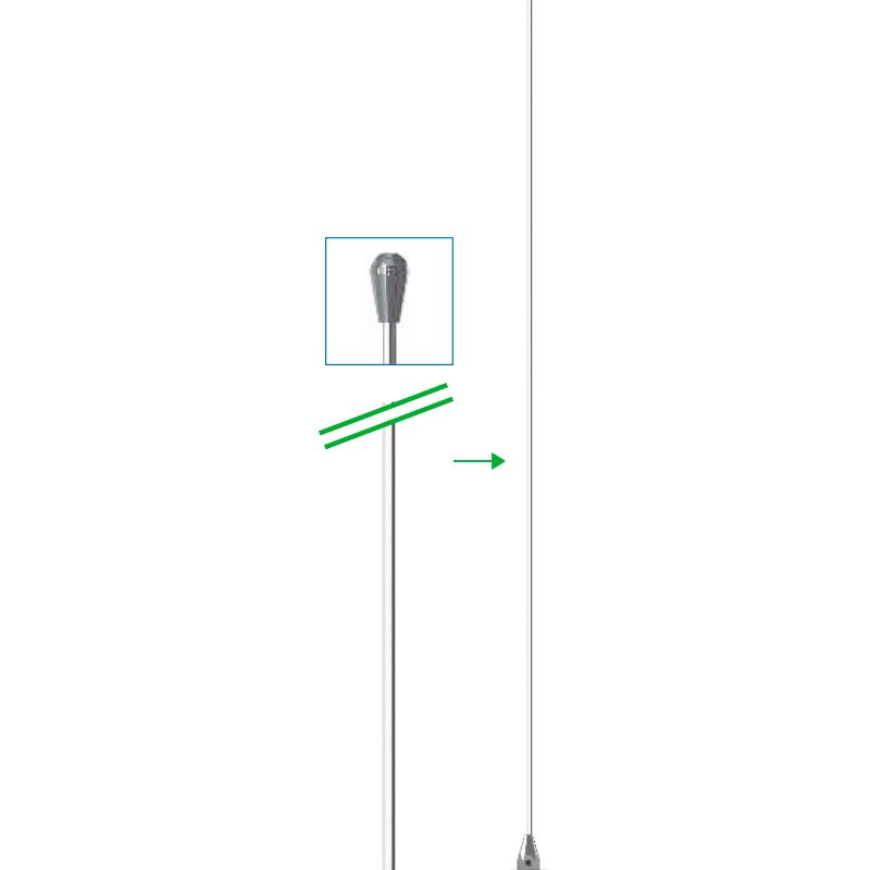 Vareta Haste para antena PX Maria Mole 1/4 de onda - AP0001