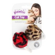 Brinquedo com 2 Bolas Pelúcia Para Gato Catnip Pawise