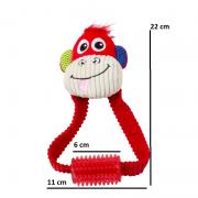 Brinquedo de Pelúcia Macaco com Mordedor Pawise