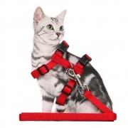 Guia e Peitoral para Gato Liso Pawise