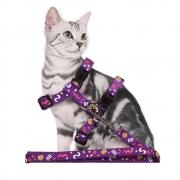 Guia para Gato com Peitoral Estampado Pawise
