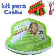 Kit Banheiro para Coelho e Brinquedo Comestível Pawise