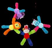Kit c/ 4 Brinquedos de Pelúcia com Apito Coleção Vivid Pawise