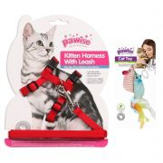 Peitoral para Gato e Ratinho com Catnip Pawise