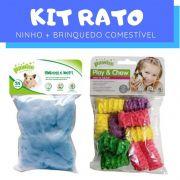 Kit Rato com Ninho e Brinquedo Comestível Pawise