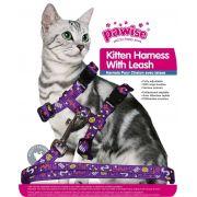 Guia e Peitoral p/ Gato Estampado Pawise
