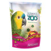 Ração para Papagaio Frutas e Legumes 600g Megazoo