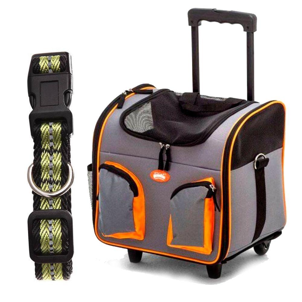 Bolsa de transporte para Cachorro com coleira Pawise