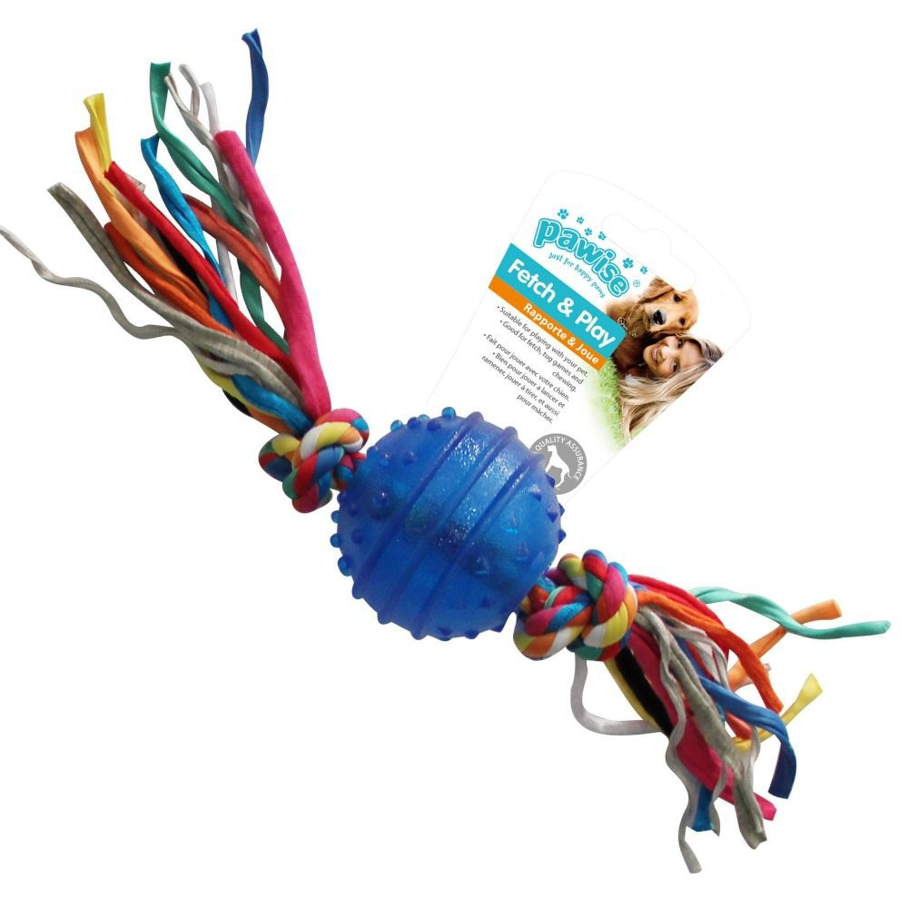 Brinquedo Bola Borracha Resistente c/ Corda Pawise