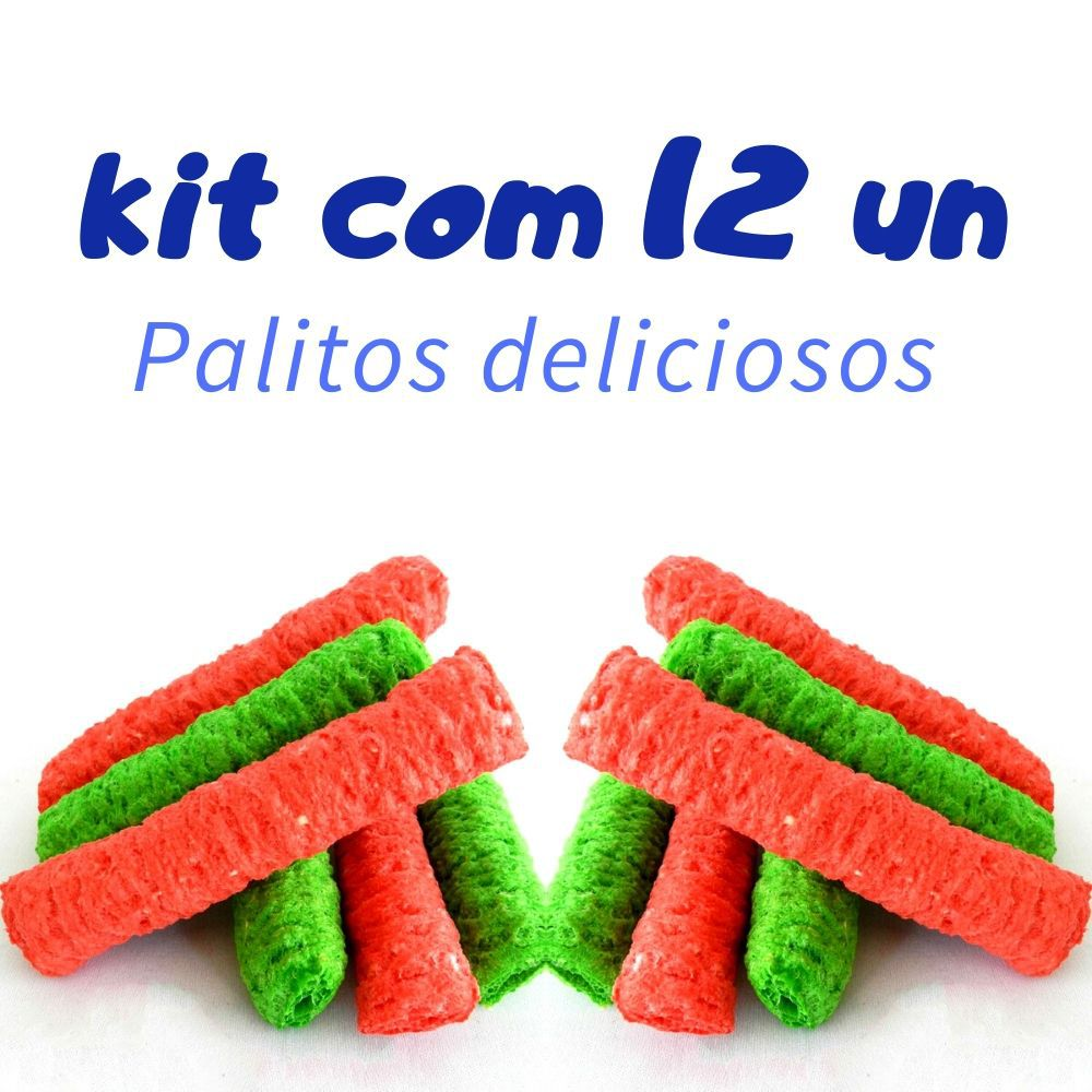 Brinquedo Comestível para Roedor com 12 Palitos Pawise