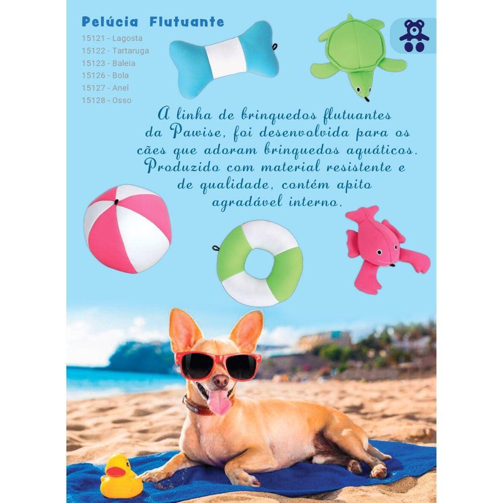 Brinquedo Flutuante Tartaruga Pelúcia com Apito Pawise